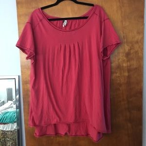 Free People oversized tee red medium